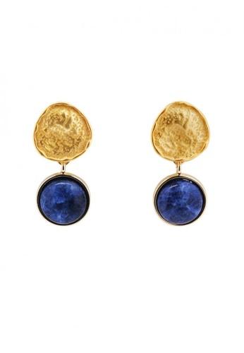 SKEDA blue Kyla Stone Pendant Drop Earrings A2381ACFA3D2BDGS_1