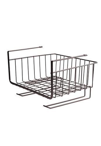 HOUZE HOUZE - Overhead Shelf Hanging Basket - Matt Black (Dim: 27x25.5x19.5cm) D7C89HLFB075CAGS_1