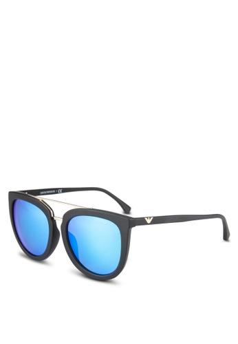 Emporio Armani black Essential Leasure EA4096D Sunglasses EM212GL0RNILMY_1
