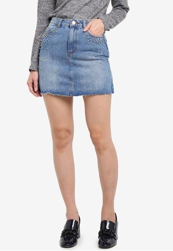 Supre blue Blair Aline Embelished Skirt D038BAA673618DGS_1
