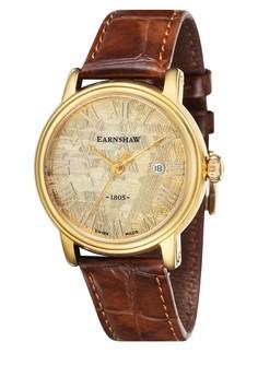 Thomas Earnshaw Meteorite Es-0026-02 Men's Genuine Leather Strap Watch