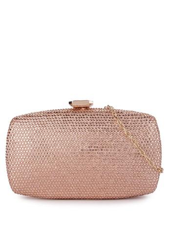 LYONS gold Jennie Crystal Champagne clutch CBD8FAC680061DGS_1