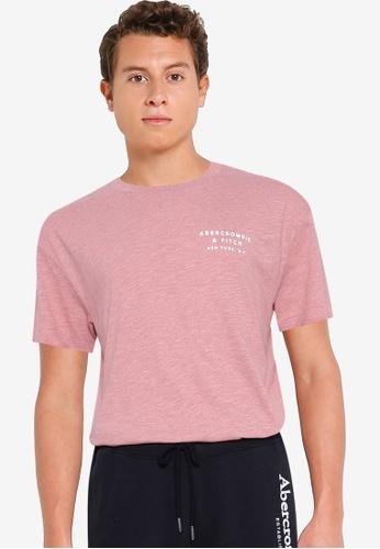 Abercrombie & Fitch pink Emea Curved Hem Tee A2012AAAAD1C83GS_1