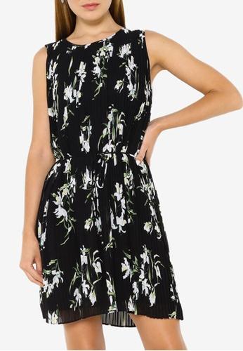 Banana Republic black Sleeveless Pleated Mini Dress 27C75AA167EB76GS_1