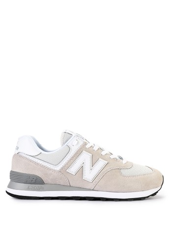 New Balance multi and beige 574 Classic B585DSH0A5370AGS_1