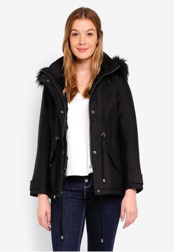 United Colors of Benetton black Hooded Coat E9C4EAA88A8337GS_1