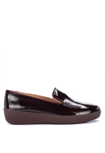 bdee749bcc1 Shop Fitflop Audrey Crinkle-Patent Smoking Slippers Online on ZALORA  Philippines