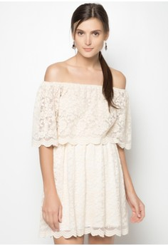 Lace Off-shoulder Dress