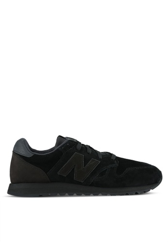 New Balance black 520 Tonal Suede Lifestyle Sneakers NE323SH0S8NFMY_1