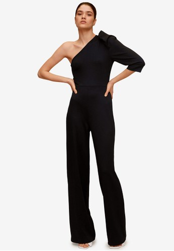 Mango black Asymmetric Long Jumpsuit BF8EBAAC1DA455GS_1