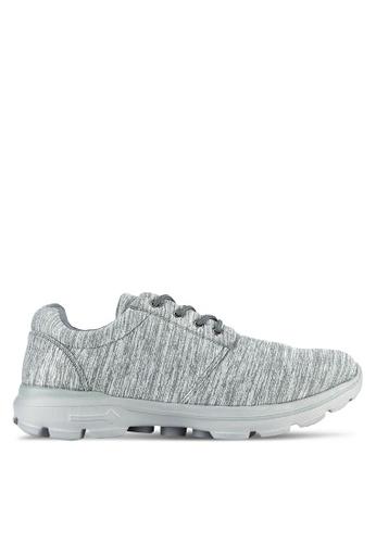 UniqTee grey Lightweight Elastic Knit Sport Sneakers UN097SH0RS4MMY_1