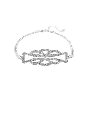 Glamorousky silver 925 Sterling Silver with White Cubic Zircon Bracelet 6FEF2ACBC43784GS_1