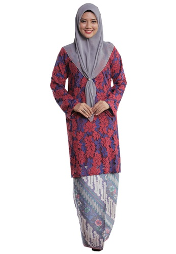 Kurung Pahang Menanti Kepulangan 02 from Hijrah Couture in Blue