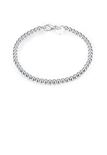 Glamorousky silver Simple Geometric Ball Bead Bracelet FE230ACE42020EGS_1