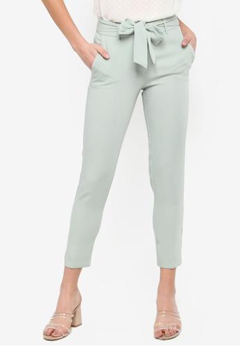 FORCAST green Christa Tie Waist Pants BD6F9AA4402BF8GS_1
