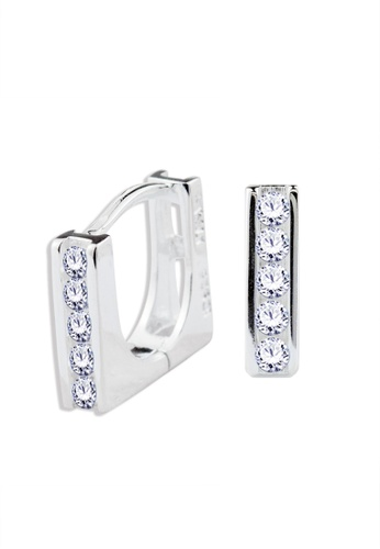 SC Tom Silver silver Square Type Clip Stone Earrings - TESL017 SC872AC62NPPPH_1