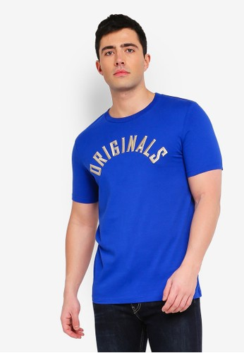 Jack & Jones blue Jormelvin Printed Tee 97D34AA0E38ED9GS_1
