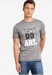 Wrung grey Just Do Art T-Shirt WR395AA82MPTMY_1
