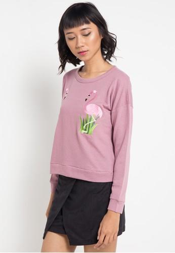 Lavabra pink Embroidery Knit Shirt LA387AA0VMPYID_1
