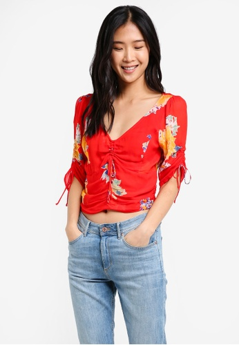 Free People red Love To Love Blouse FR659AA0SD0OMY_1