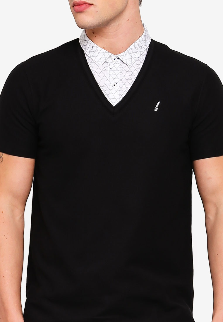 In G2000 1 Shirt 2 Collar Black Polo UznF0