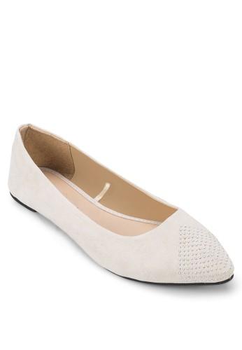 鉚釘尖頭平底鞋, 女鞋, 芭蕾平esprit au底鞋