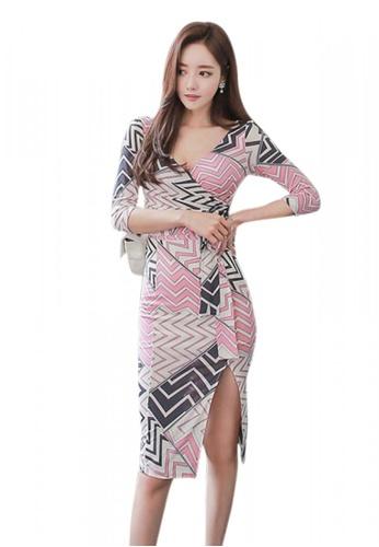 Sunnydaysweety multi 2017 S/S sweet print  Wrap One piece Dress UA050522 SU219AA89DXUSG_1