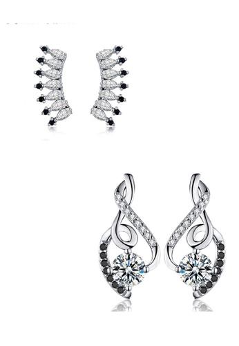 A-Excellence white Premium Elegant White Silver Earring Set E35AFACA745DCBGS_1