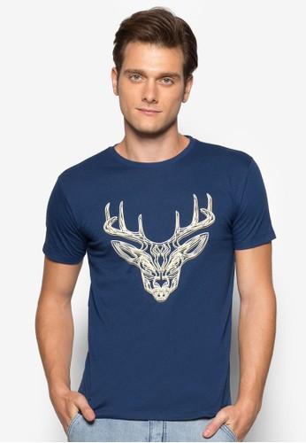 鹿esprit香港門市圖案TEE, 服飾, T恤