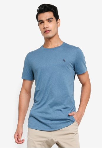 ABERCROMBIE & FITCH blue Webex Icon Curved Hem T-shirt B9E56AA54BDB57GS_1