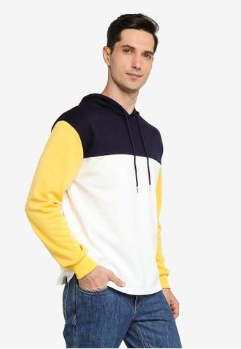 ZALORA BASICS multi Colourblock Long Sleeve Hoodie 64114AA28E7929GS_1