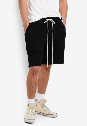 Flesh IMP black Double Layered Shorts FL064AA62WZTMY_1