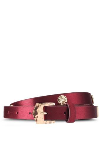 Mango red Metal appliqué belt 966CFACBE793C2GS_1