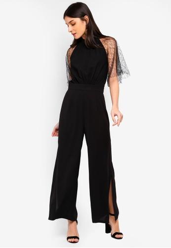 e308f1ada6 Buy ZALORA Lace Sleeves Jumpsuit Online