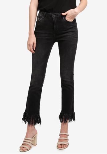 Mango grey Frayed Edges Jeans 1F87CAAB69F351GS_1