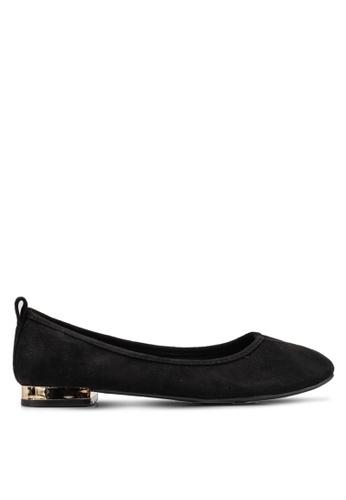 ONLY 黑色 金屬感平底鞋 CDAECSHE04B02CGS_1