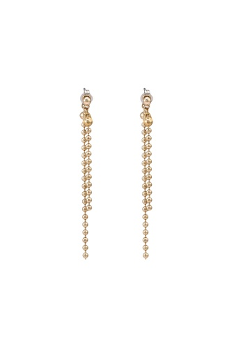 niko and ... gold Beads Chain Earrings 1E5B8ACB2A5342GS_1