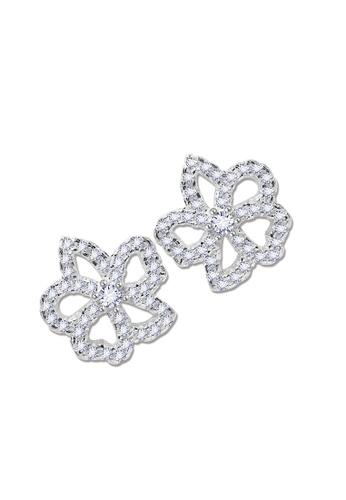 SC Tom Silver silver Flower Stud Stone Earrings-TESS024 SC872AC73JZYPH_1