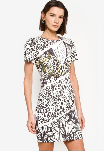 Desigual white Be Wild Mini Dress 34616AAFB40926GS_1