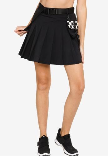 361° black Sports Life Woven Short Skirt E5690AA25D8EB1GS_1