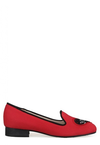 SPUR red Write about Love Flats SP642SH58IERHK_1