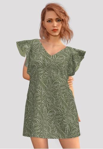 Lily & Lou green Sarah Dress (Green) B89B1AA385B63DGS_1
