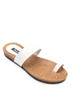 Kathleen One-Toe Strap Flat Slides