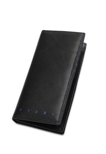 Playboy black Stitched Long Wallet E8423AC3C8F1C5GS_1