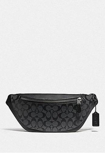 COACH black Coach Warren Belt Bag in Signature Canvas F78777 In Charcoal 1C0A4AC995D769GS_1