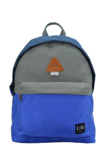 G.ride grey and blue and navy Auguste Backpack 8FEE9ACDBF99E9GS_1