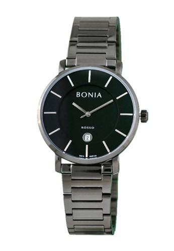 BONIA black and grey Bonia Rosso - BR168-1732 - Jam Tangan Pria 55C0AACFA23C9CGS_1