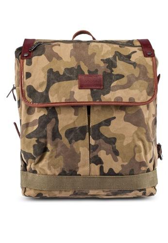 High Cultured brown Canvas Backpack HI002AC0S1WGMY_1
