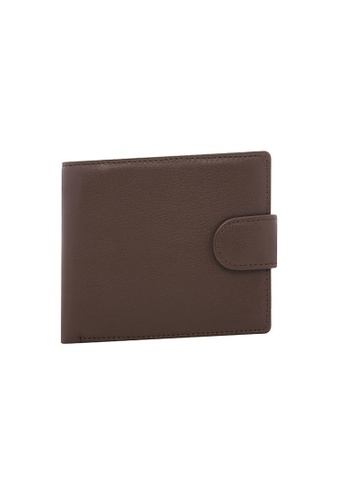 Buckle brown Shawn Leather Wallet with RIFD Protection AF143AC24D9A4BGS_1