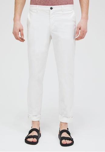 Sisley white Regular Fit Chinos C4F86AAF30B54DGS_1